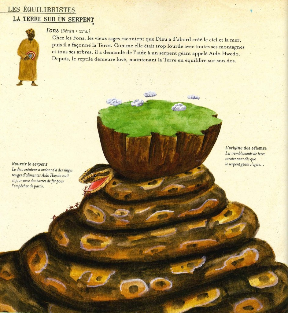La terre sur un serpent - Fons (Bénin)
